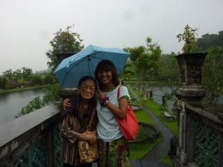 Okay, perhaps our visit to Tirta Gangga was slightly spoiled by the rain - but we're still smiling