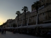 A relaxing stroll along the marina in front of Diocletian's mighty palace wall