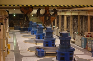 The generator hall, awesomely set 200 metres below the earth