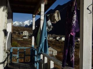 Trek lodgings in the village of Langtang