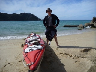 A keen warrior of the Clan McKayak wearing the traditional McKayak kilt. Or sprayskirt, to keep waves out of the kayak