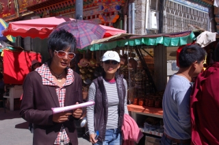 Our guide, Tenzin - friendly, frustrating, unpunctual and Tibetan