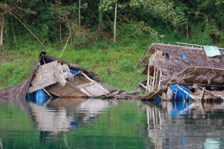 The graveyard of the floating bungalows - presumably where they go when the termites get too busy