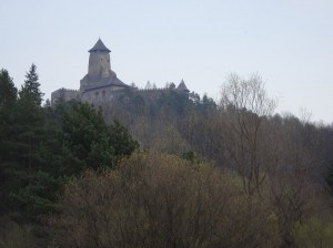Hrad Lubovna in the trees