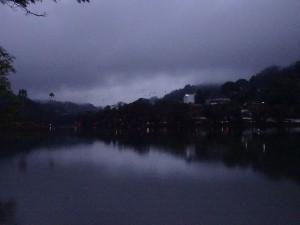 Kandy lake at dusk