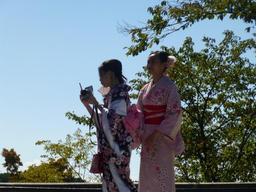 Kimonos everywhere