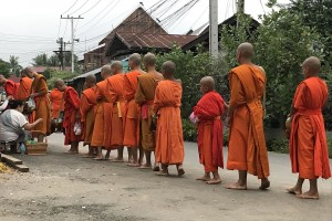 Collecting alms