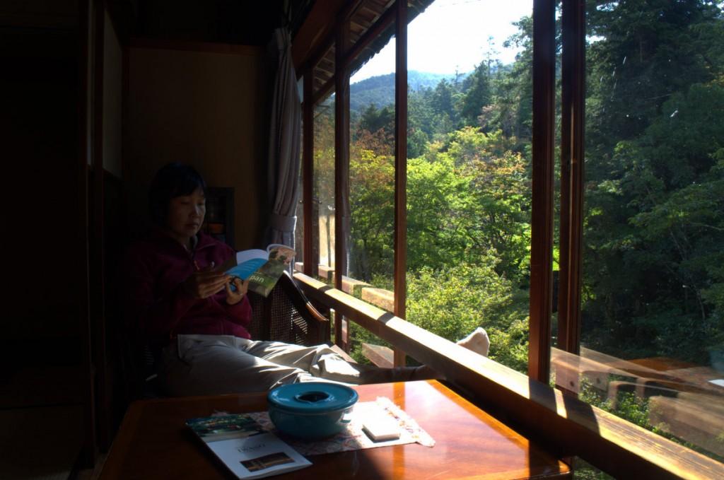 Relaxed at Iwaso ryokan